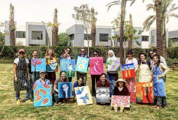 """Cristina Maruri participa en un """"Marathon Art"""" en Arabia Saudita."""
