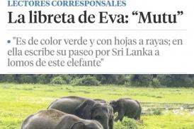 """La libreta de Eva: """"Mutu"""" es el relato de un increíble paseo que la escritora publica en La Vanguardia."""