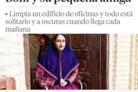 """""""Boni y su pequeña Amiga"""" es el cuento humanista que la escritora publica en La Vanguardia."""