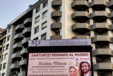 Radio Santurtzi y el periódico EnSanturtzi.com cubren la noticia de la exposición  de Cristina Maruri.